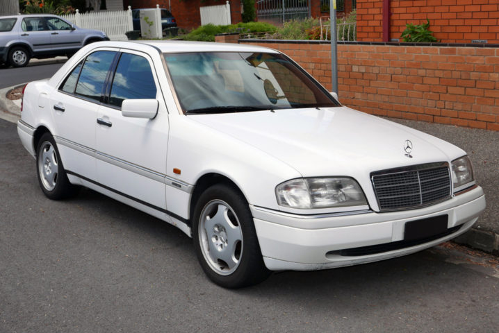 The only car Vincent has ever bought is a white Mercedes-Benz C-Class similar to this one
