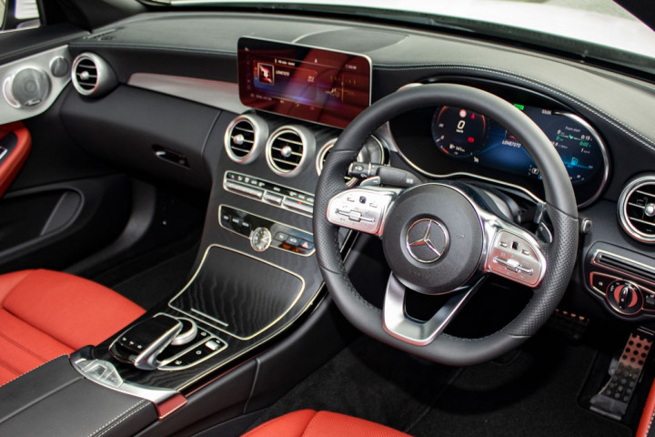 Feature Spotlight: 3-Spoke Multifunction AMG Steering Wheel With Flattened Bottom Section In Black Nappa Leather