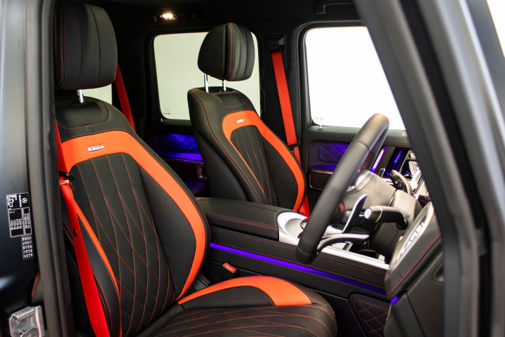 Feature Spotlight: Active Multi-contour Seat Package With AMG Exclusive Nappa Leather, Black With Red Segment Band & Red Contrasting Top-stitching