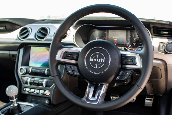 Feature Spotlight: Bullitt Specific Multifunction 3 Spoke Leather steering Wheel
