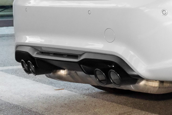 Feature Spotlight: Dual Twin, Black Chrome Exhaust Tailpipes With Beveled Design