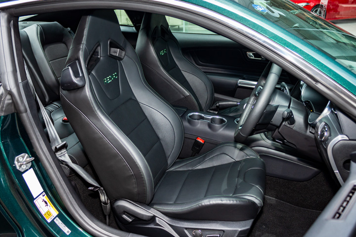 Feature Spotlight: Recaro seats with Feature Green contrast stitching