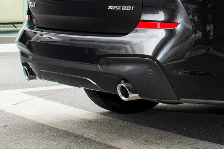 Feature Spotlight: Twin Trapezoidal Exhaust Pipes, Left and Right
