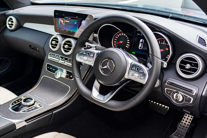 Feature Spotlight: 3-Spoke Multifunction AMG Steering Wheel In Black Nappa Leather