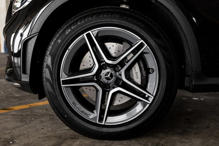 "Feature Spotlight: 19"" AMG 5-twin-spoke alloy wheels"