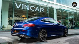2018 C200 Coupe AMG - Rear Side Angle