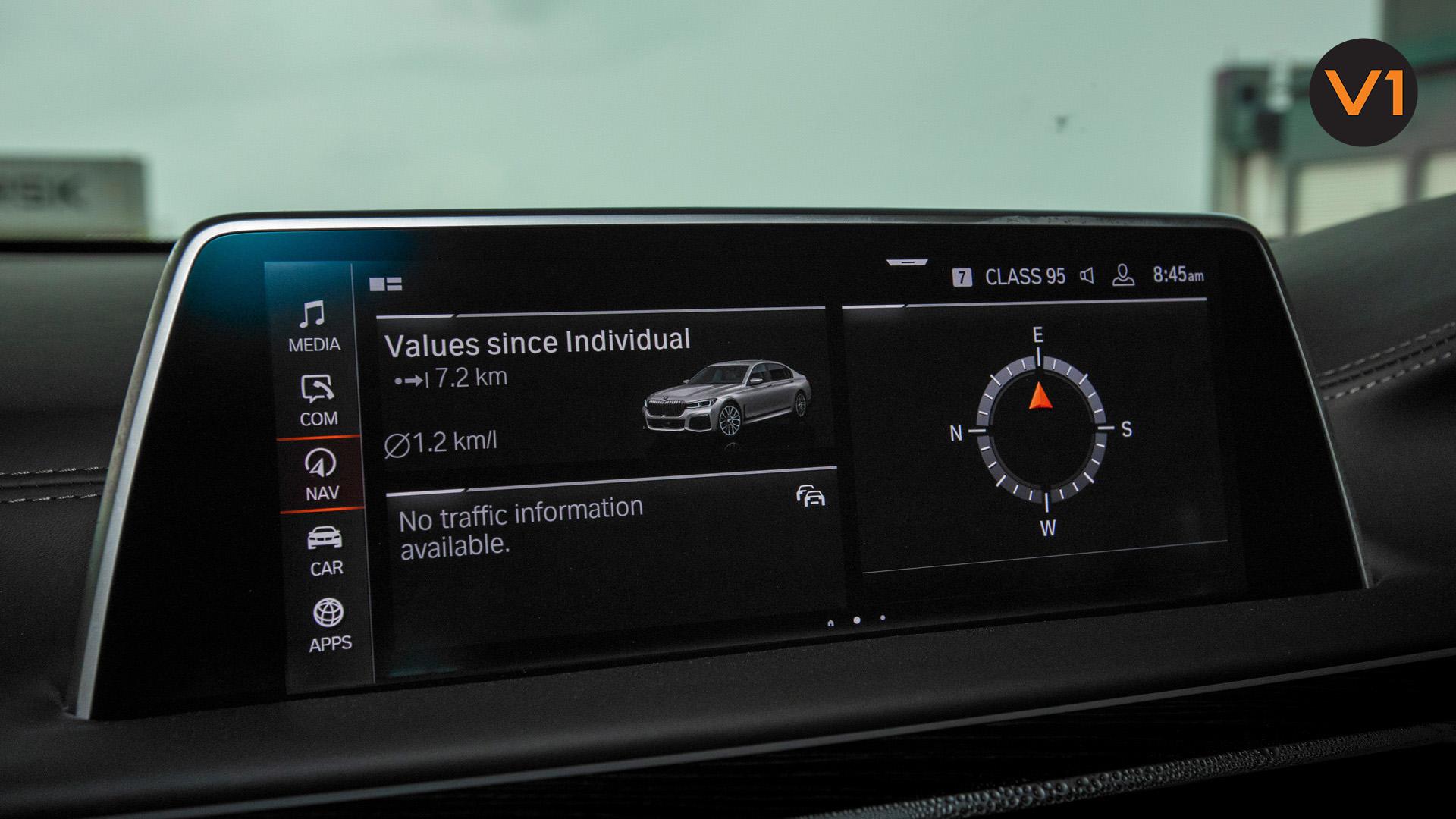 BMW 740LI M Sport Saloon - Screen