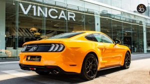 Ford Mustang 2.3 Ecoboost Fastback - Rear Lower Angle