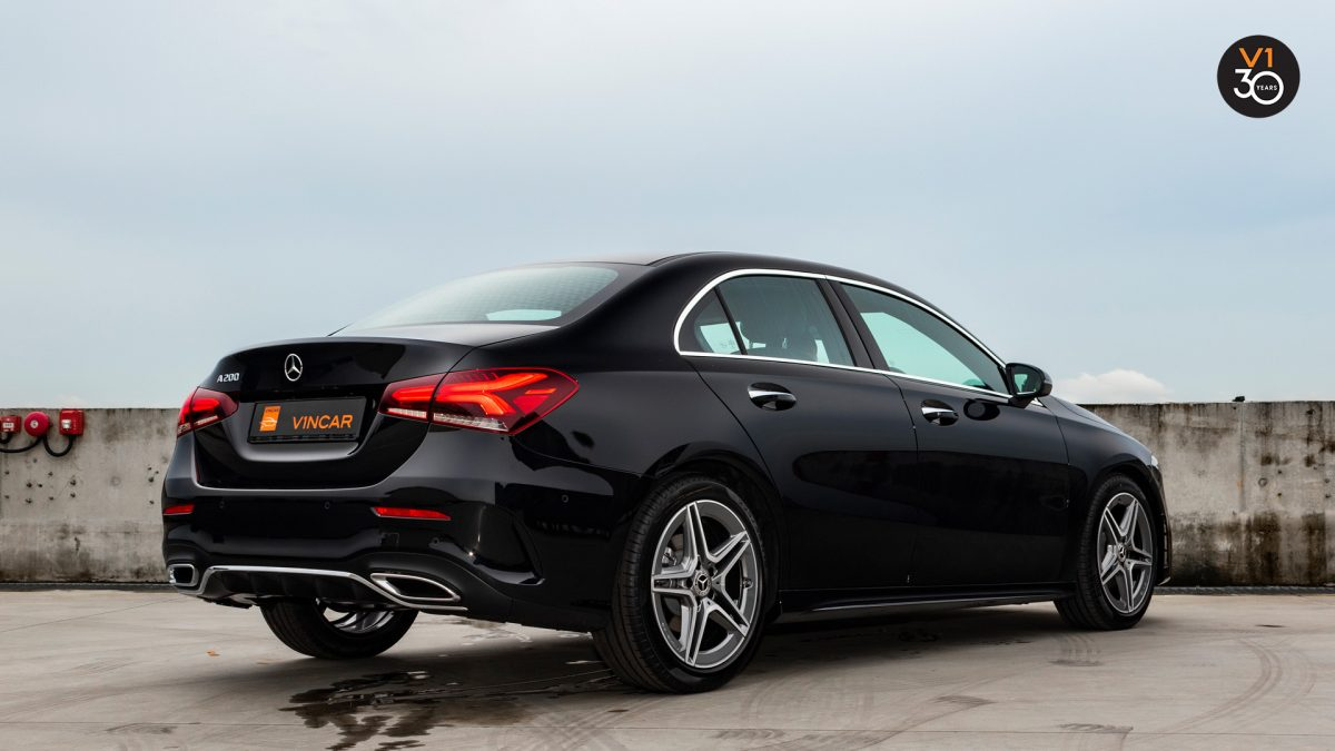 Mercedes-Benz A200 Saloon AMG Premium - Rear Lower Angle
