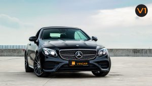 Mercedes-Benz E300 Cabriolet AMG Line Night Edition Premium Plus - Front Angle
