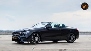 Mercedes-Benz E300 Cabriolet AMG Line Night Edition Premium Plus - Side Profile