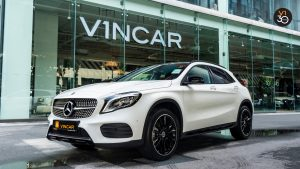 Mercedes GLA200 AMG Line - Front Lower Angle