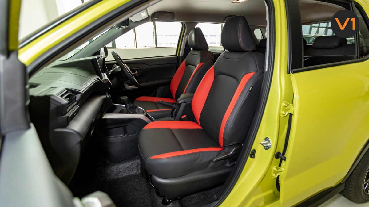 Toyota Raize 1.0 XS - Shotgun Seat Angle