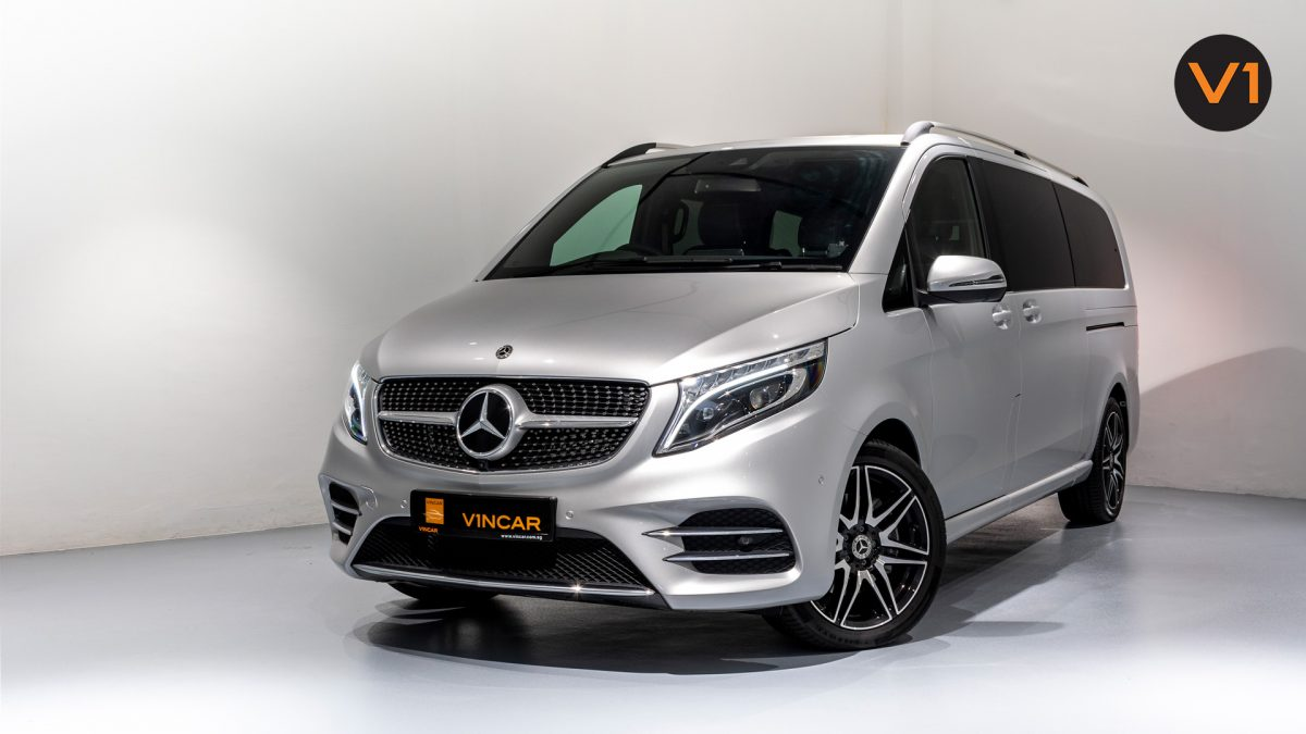Mercedes-Benz V300D Extra Long AMG Line - Front Angle