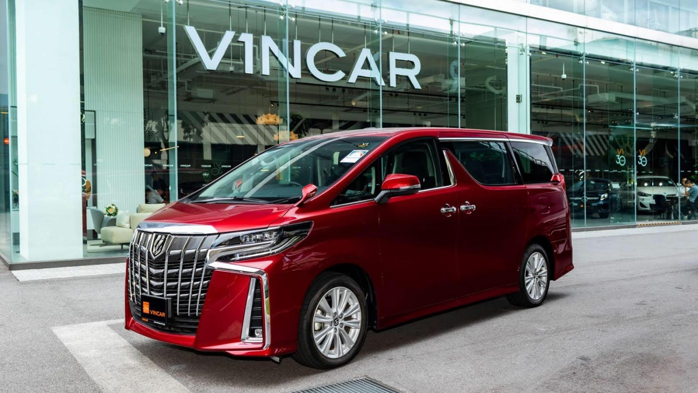A Red Toyota Alphard