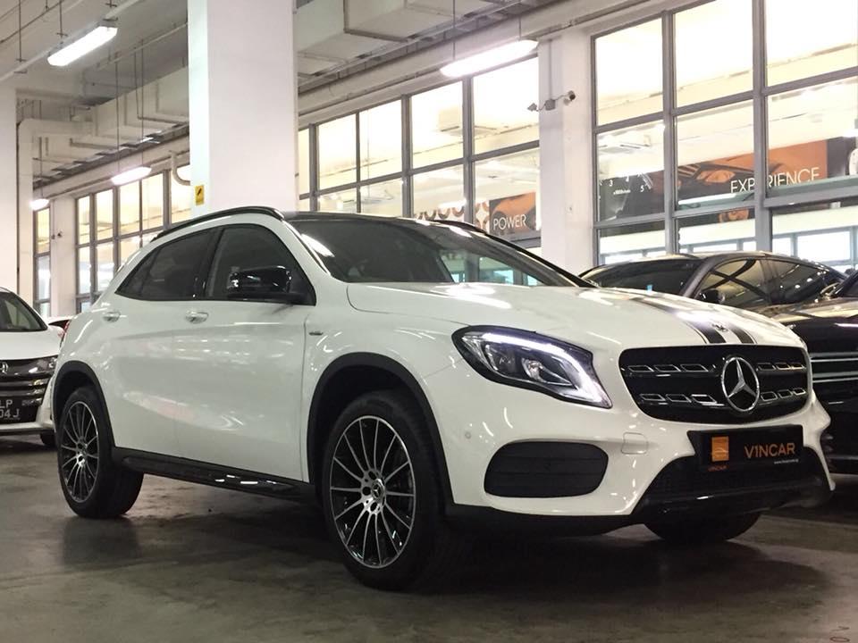 Aesthetically enhanced Mercedes-Benz GLA200 WhiteArt Edition