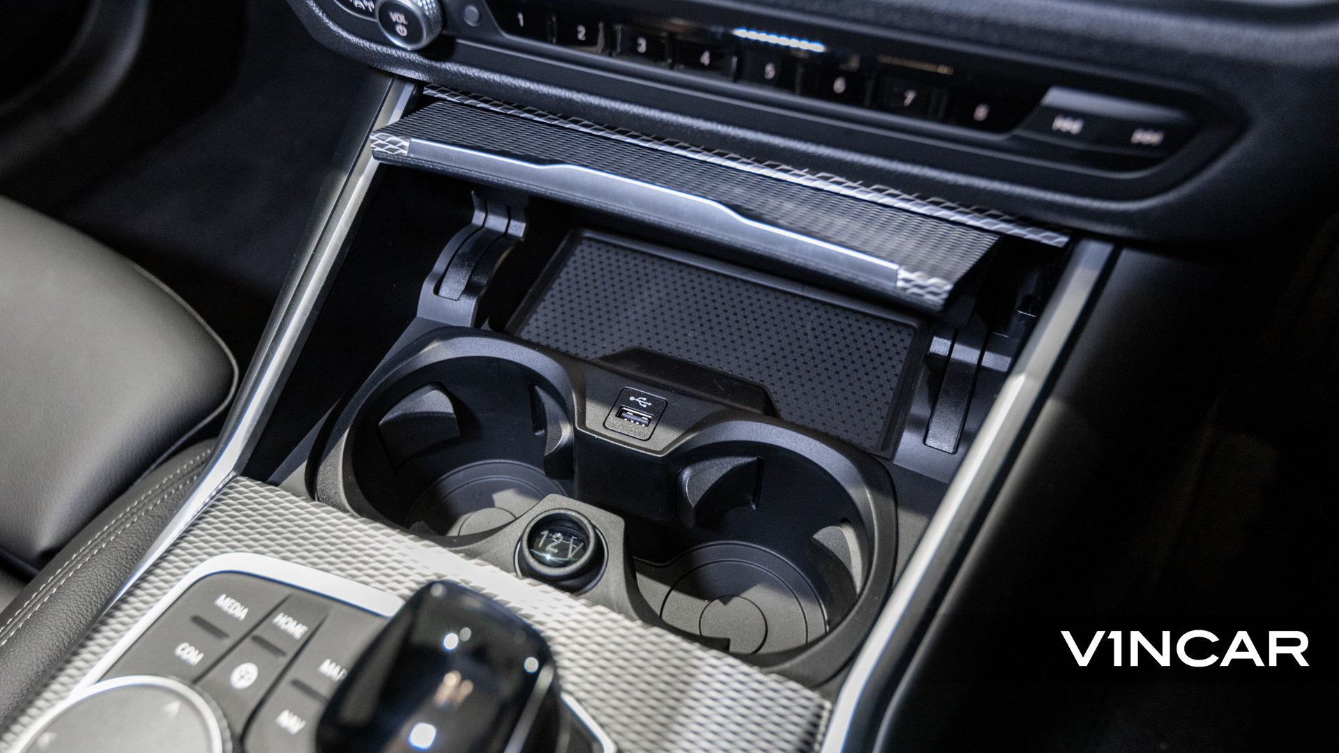 BMW 320I M SPORT SALOON-Cupholders, Wireless Charging pad, and USB Port
