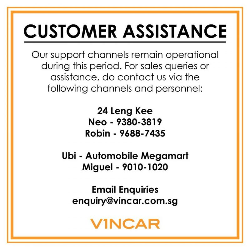 CUSTOMER ASSISTANCE: Contact us!