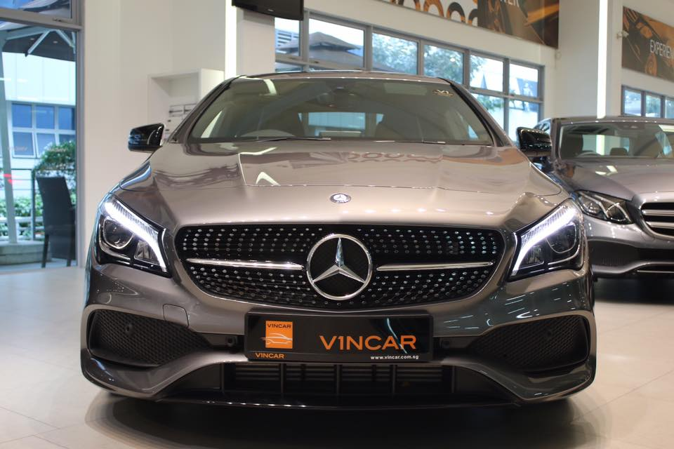 The new Mercedes-Benz CLA180 AMG Sport - Front Direct