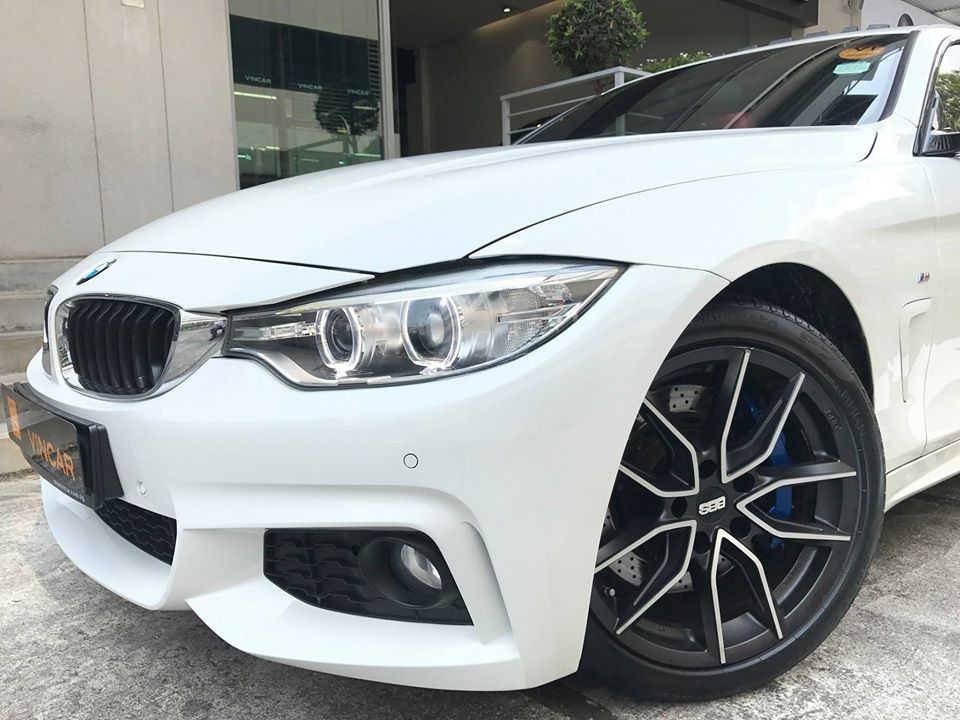 Gleaming white BMW 428i Gran Coupe is here!
