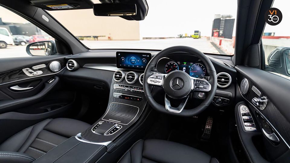 Interact with the Mercedes-Benz GLC300 4MATIC AMG Premium Plus