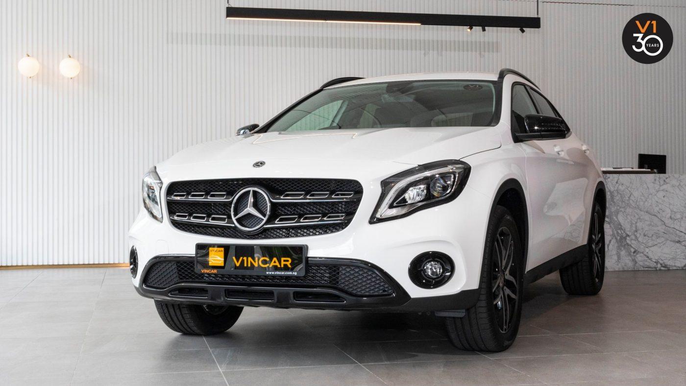 Mercedes-Benz GLA180 Urban edition in Polar White - Front Angle