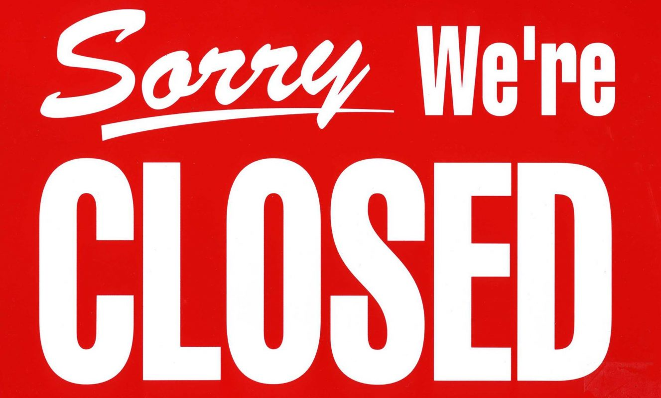 Office and Showrooms closed TODAY