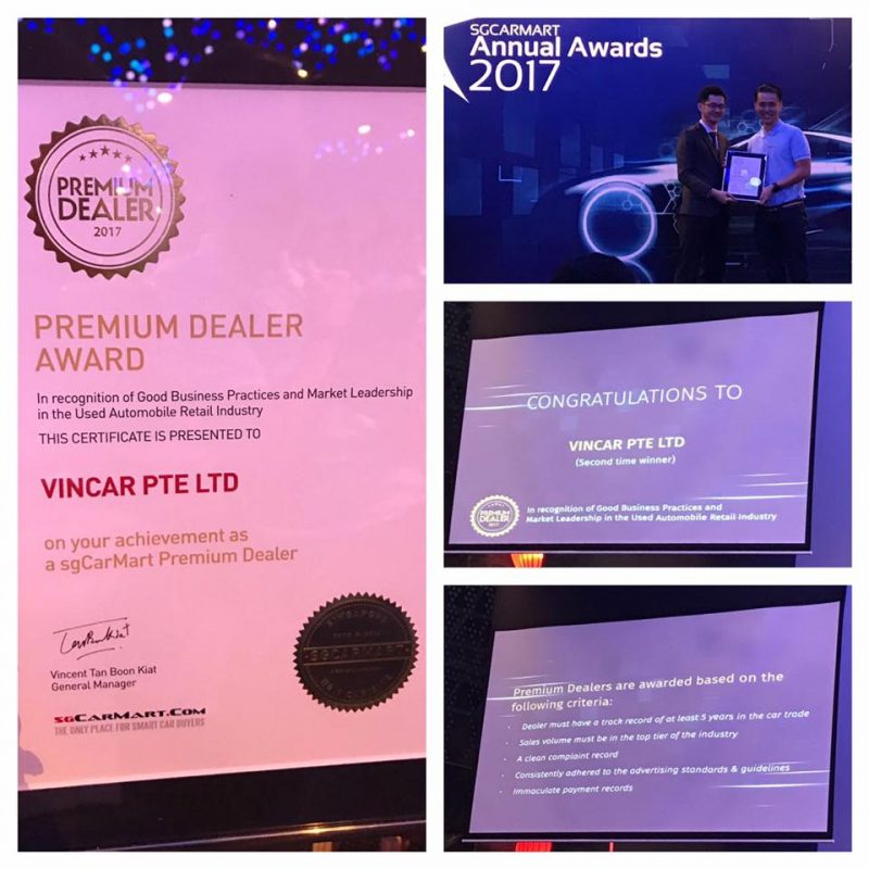 Premium Dealer Award 2017 Received by VINCAR