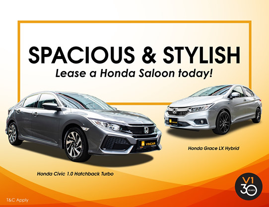 Spacious and Stylish: Lease your Honda today