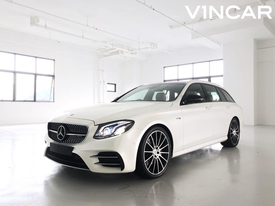 Special indent Mercedes-AMG E43 Estate in Designo Diamond White