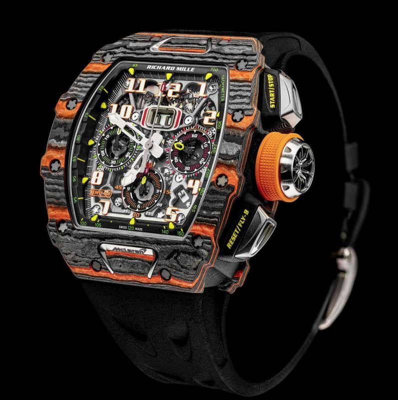 The first timepiece from Richard Mille and McLaren Automotive