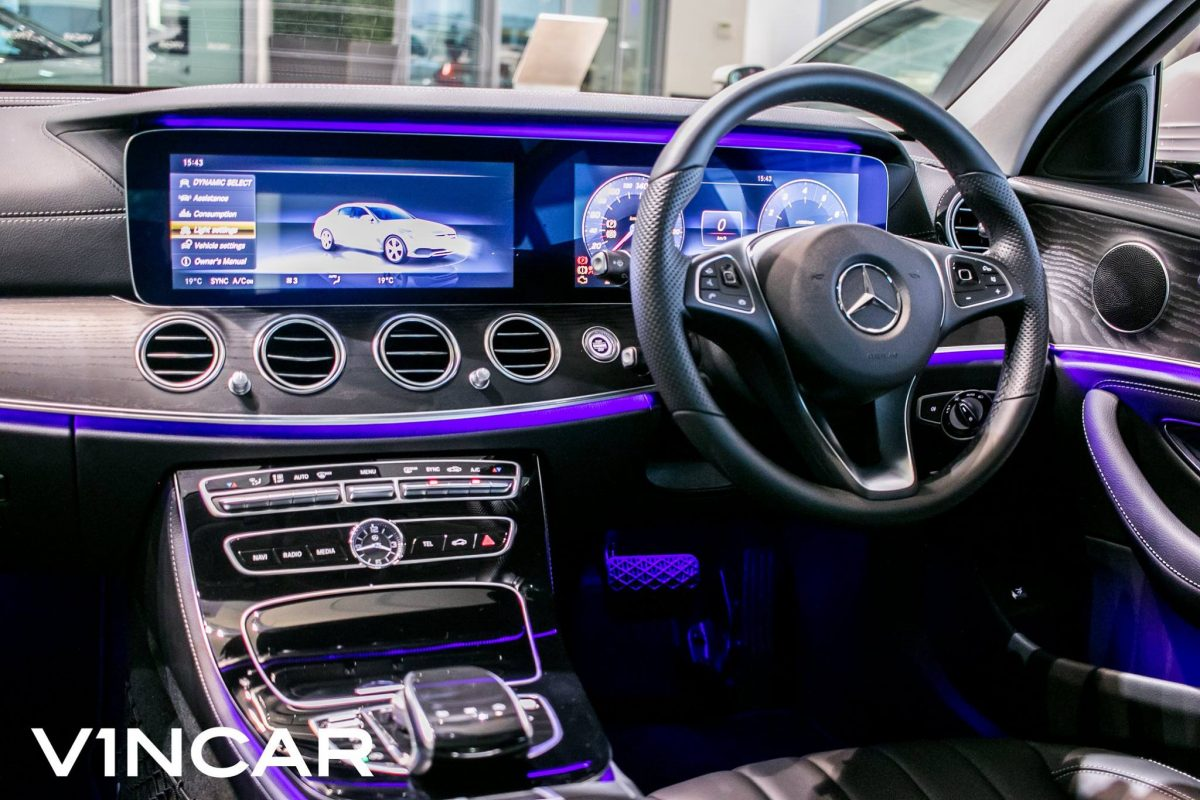 The heavily tech-packed Mercedes-Benz E200 Exclusive