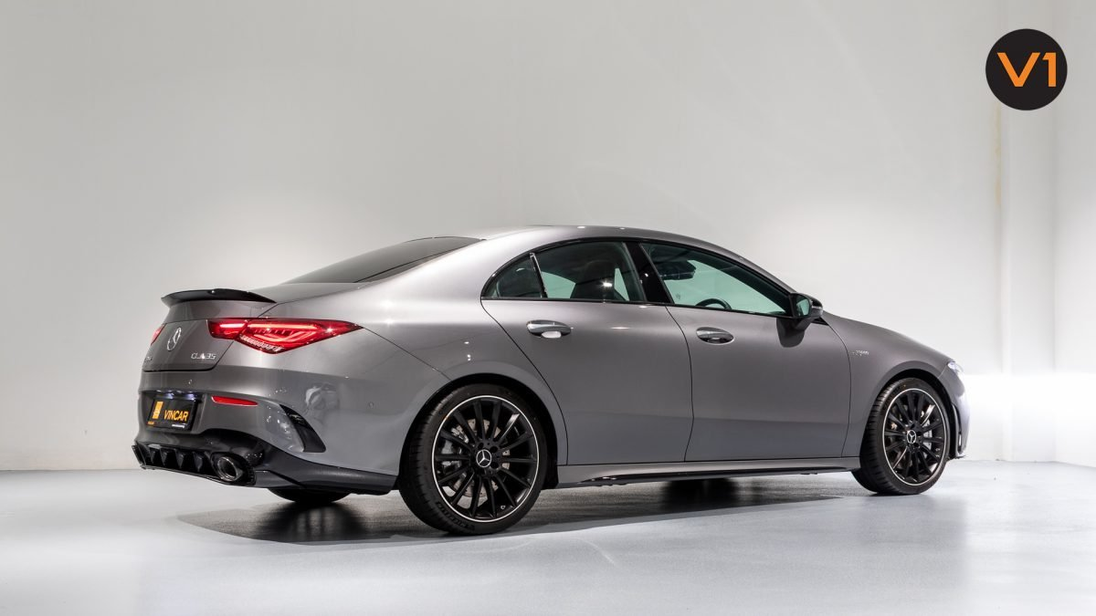 Mercedes-AMG CLA35 Coupe AMG 4Matic Premium Plus - Rear Side Profile
