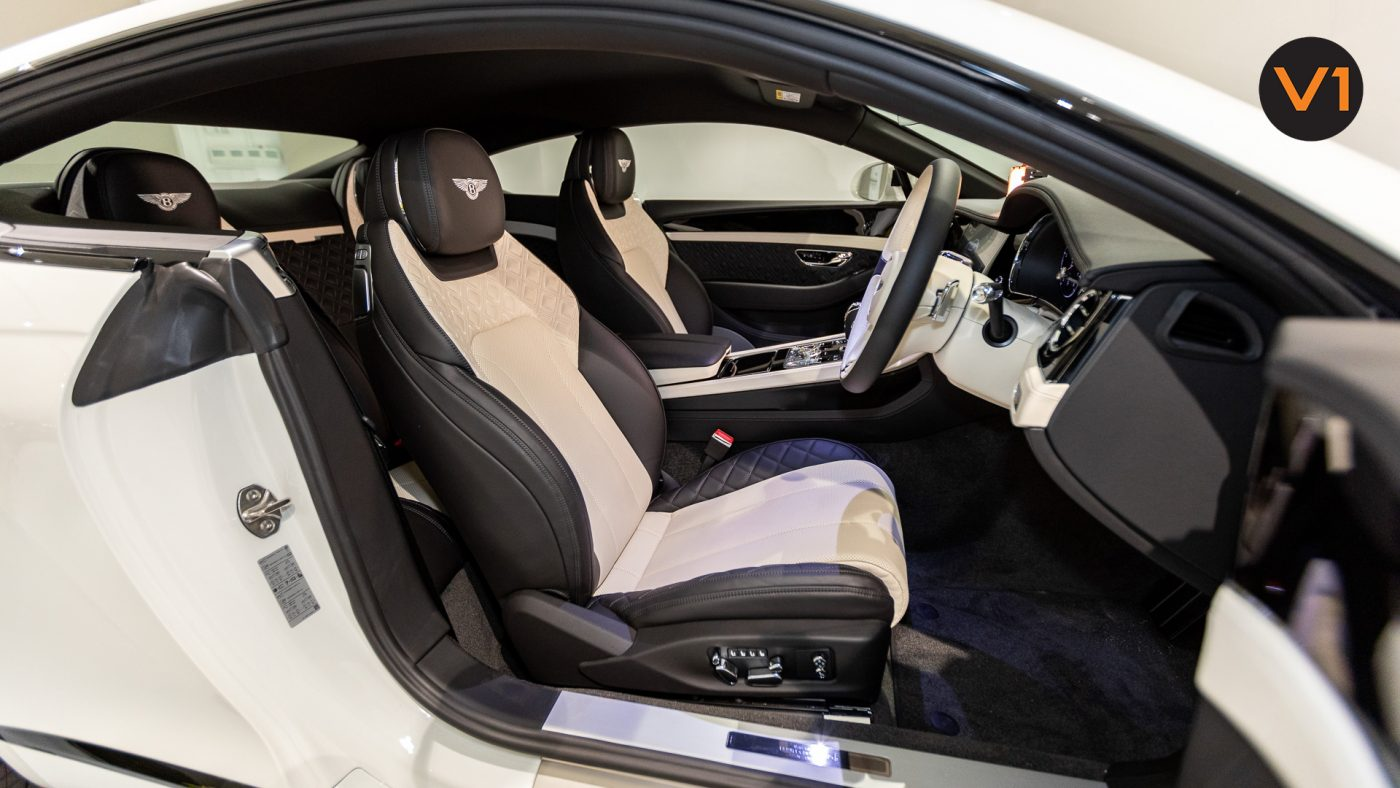 Bentley Continental GT Coupe V8 (Glacier White) - Driver Seat