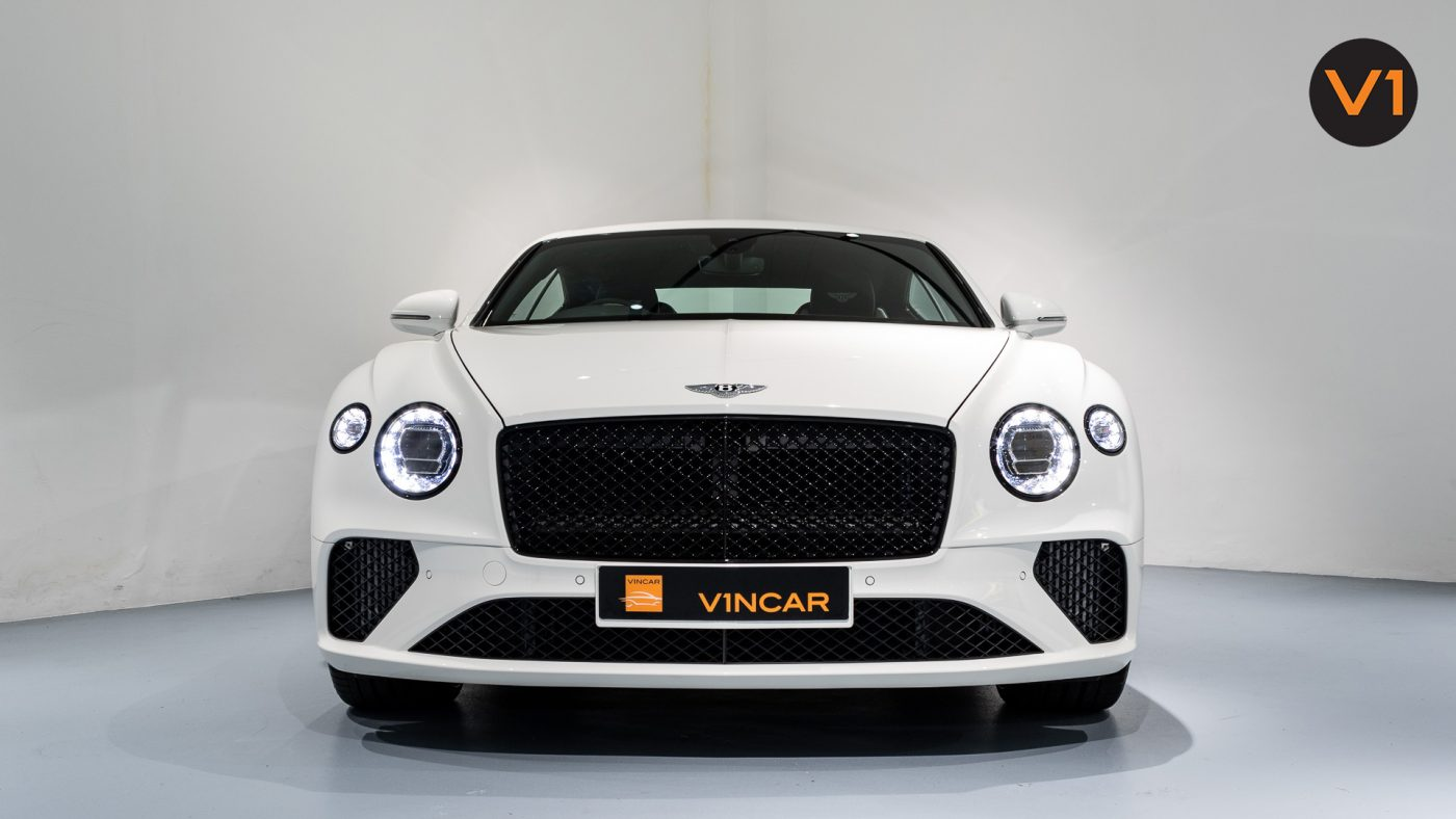 Bentley Continental GT Coupe V8 (Glacier White) - Front Direct