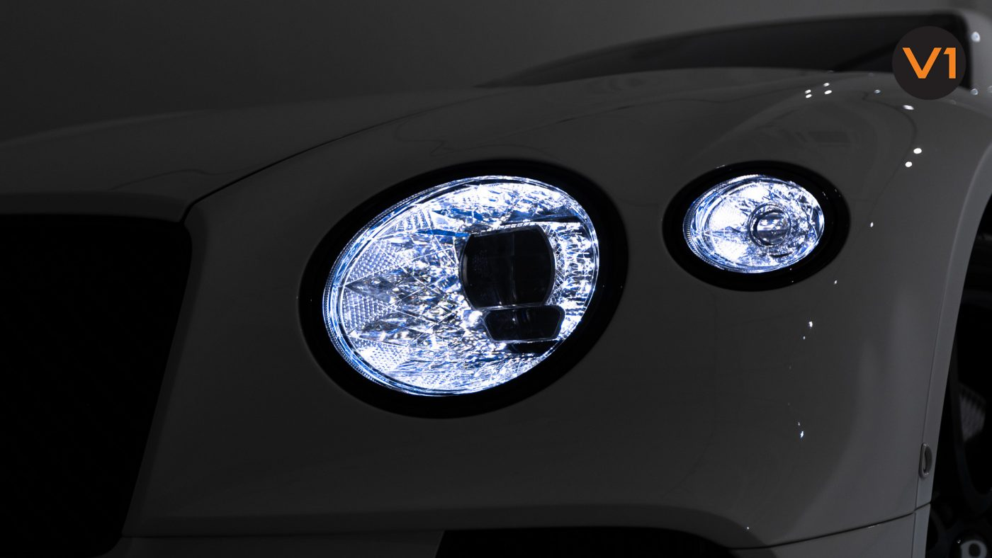 Bentley Continental GT Coupe V8 (Glacier White) - Headlamp