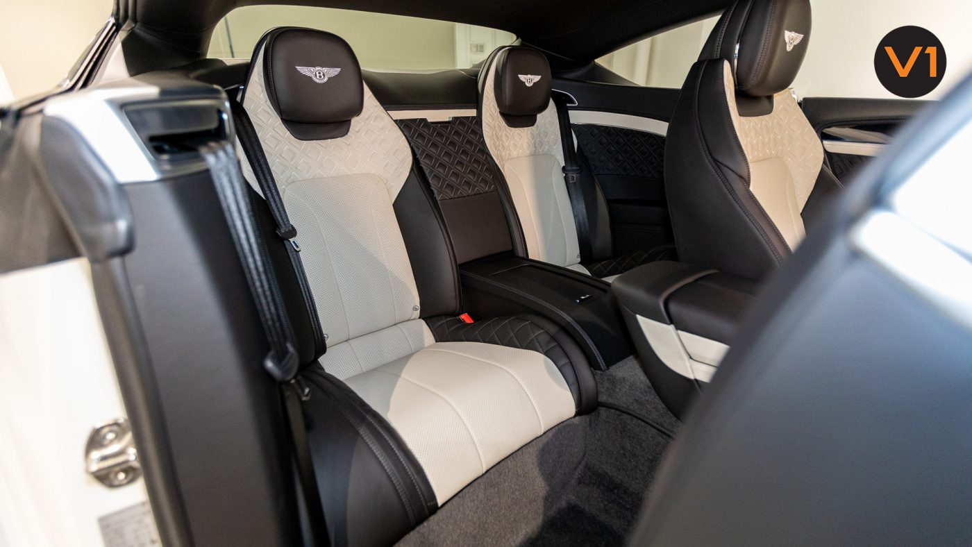 Bentley Continental GT Coupe V8 (Glacier White) - Rear Seat