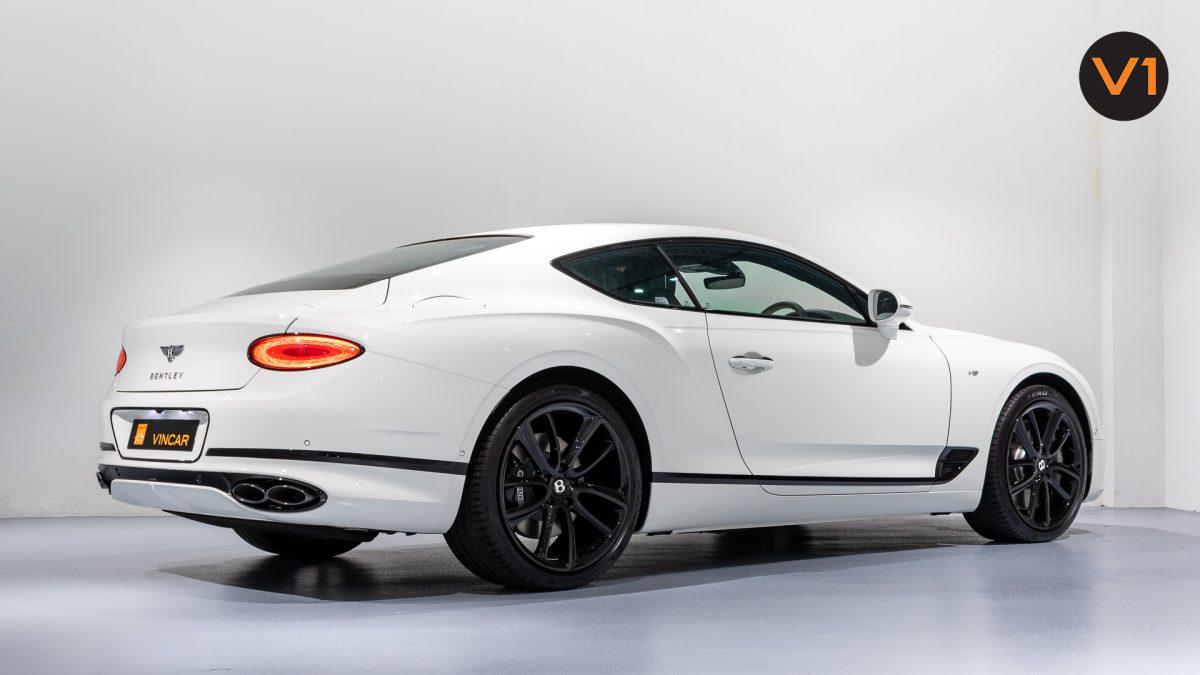 Bentley Continental GT Coupe V8 (Glacier White) - Rear Side Profile