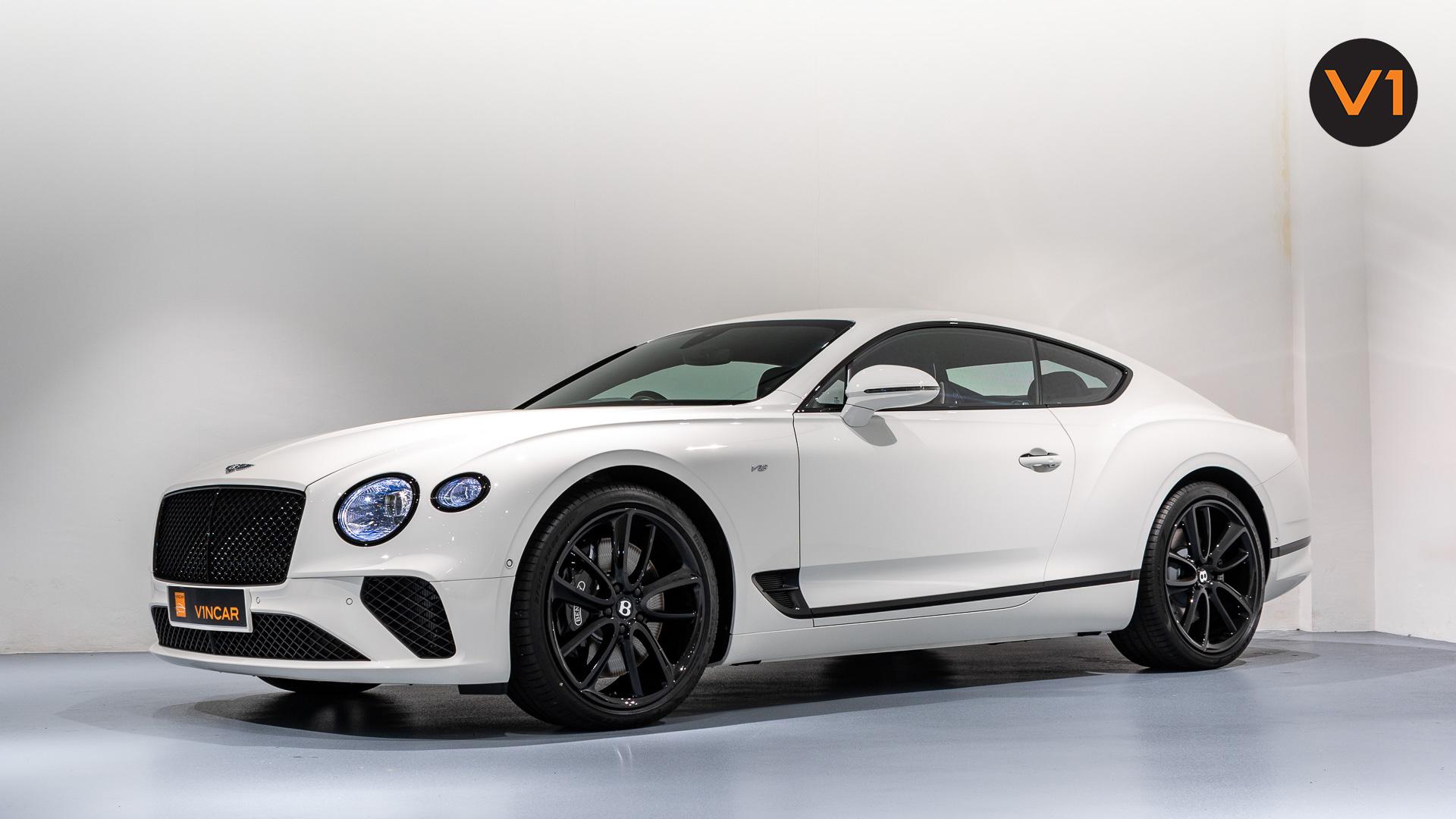 Bentley Continental GT Coupe V8 (Glacier White) - Side Profile