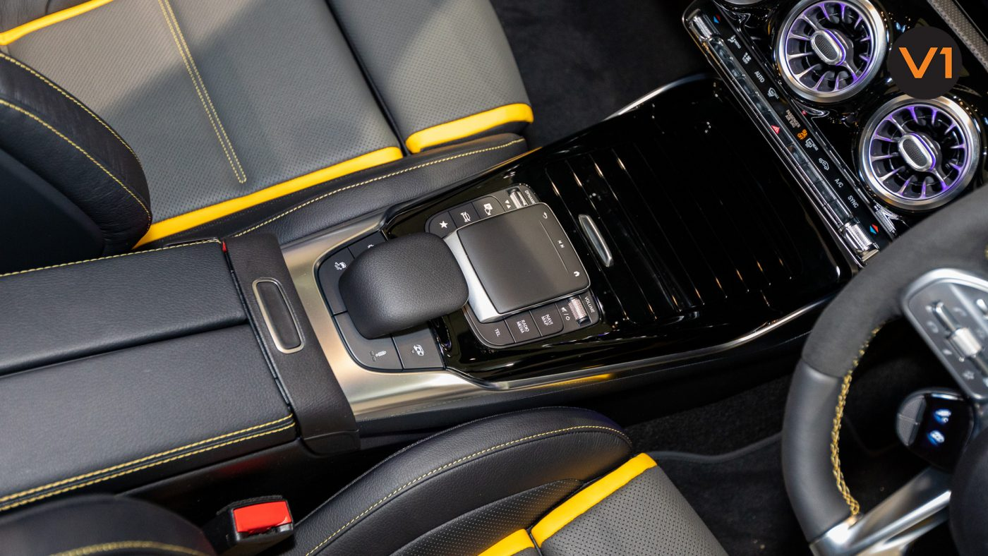 Mercedes-AMG CLA45 S Coupe AMG 4Matic+ Plus (Sun Yellow) - AMG Center Console