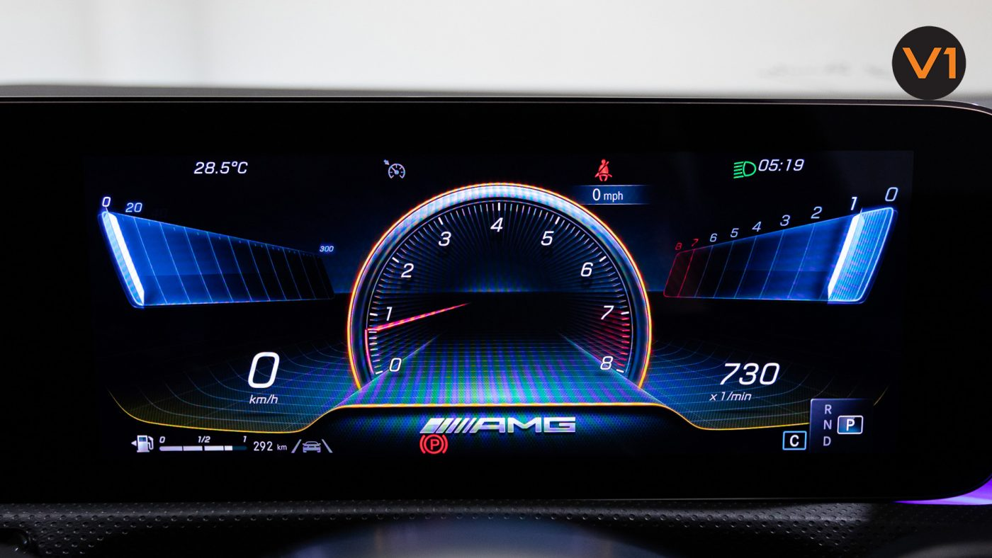 Mercedes-AMG CLA45 S Coupe AMG 4Matic+ Plus (Sun Yellow) - Digital Instrument Cluster