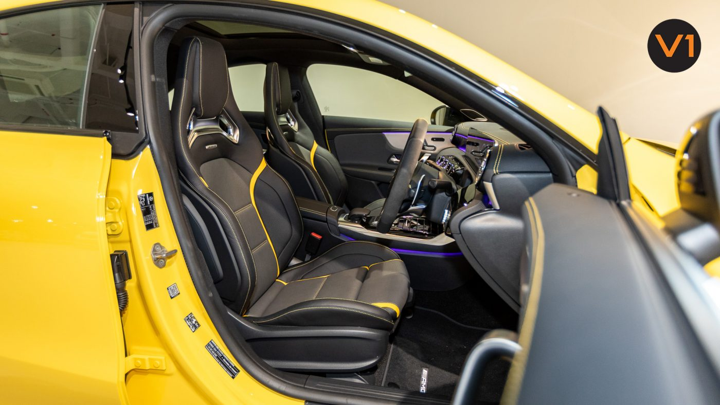 Mercedes-AMG CLA45 S Coupe AMG 4Matic+ Plus (Sun Yellow) - Driver Seat