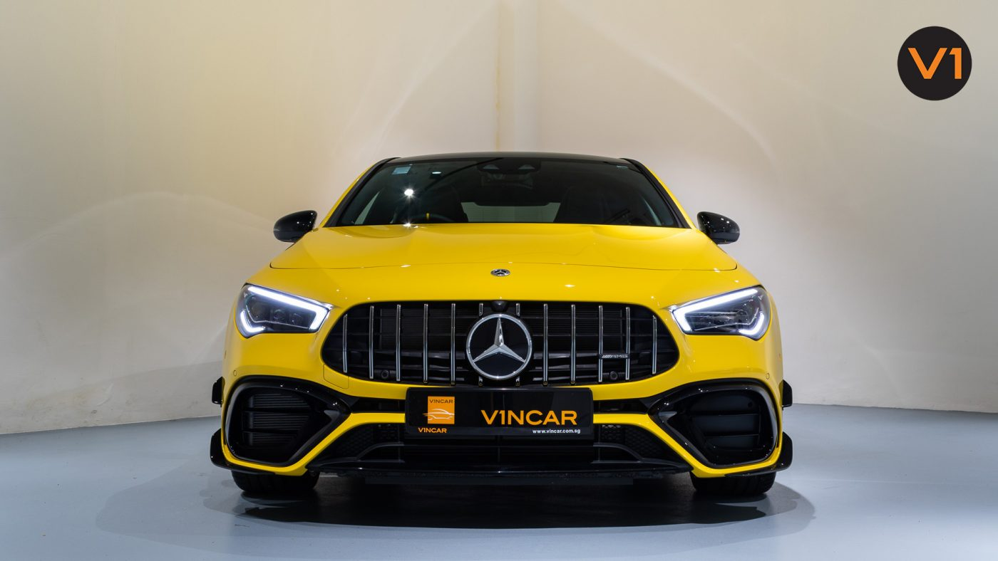 Mercedes-AMG CLA45 S Coupe AMG 4Matic+ Plus (Sun Yellow) - Front Direct