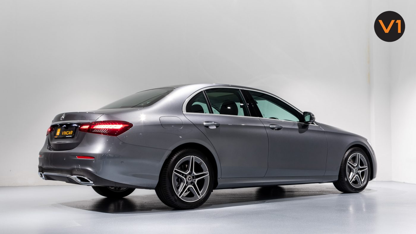 Mercedes-Benz E200 Saloon AMG Luxury (FL2021) - Rear Side Profile
