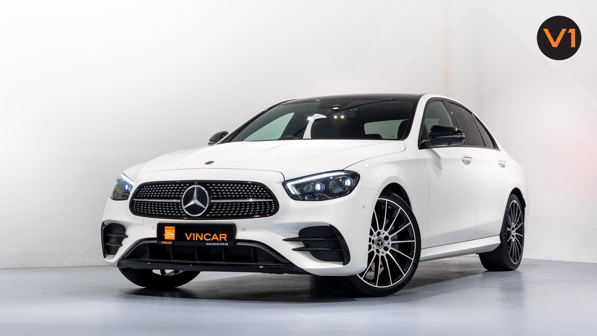 Mercedes-Benz E220d Saloon AMG Line Night Edition Premium Plus (FL2021) - Front Angle