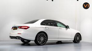 Mercedes-Benz E220d Saloon AMG Line Night Edition Premium Plus (FL2021) - Rear Side Profile