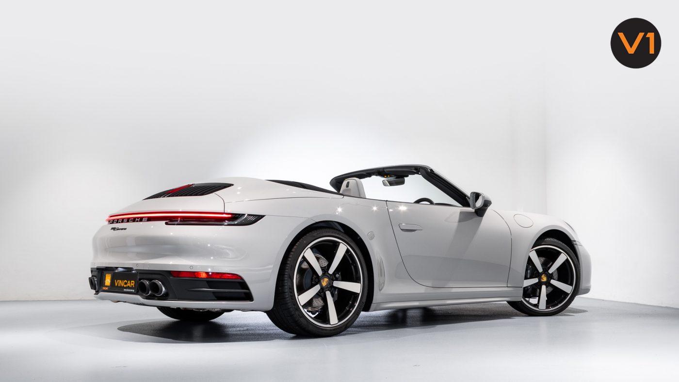 PORSCHE 911 CARRERA CABRIOLET (CRAYON) - Rear Profile