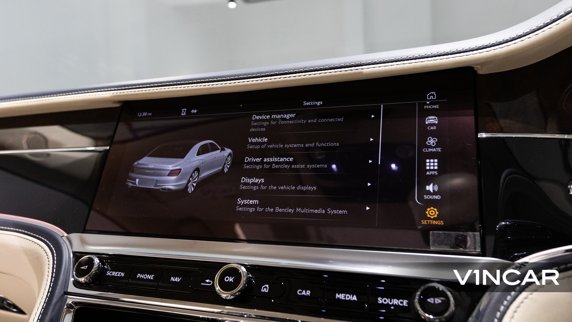 Bentley Flying Spur First Edition W12 - Infotainment Display