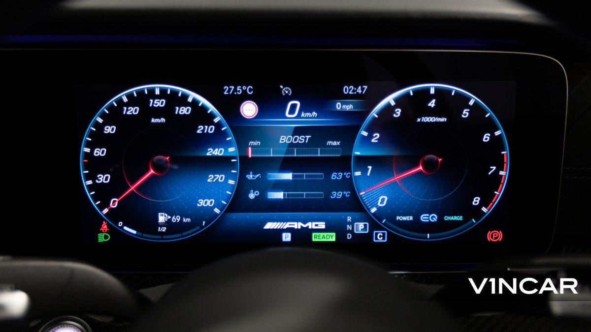 Mercedes-AMG E53 Coupe AMG Night Edition Premium Plus (FL2021) - Digital Gauge Cluster
