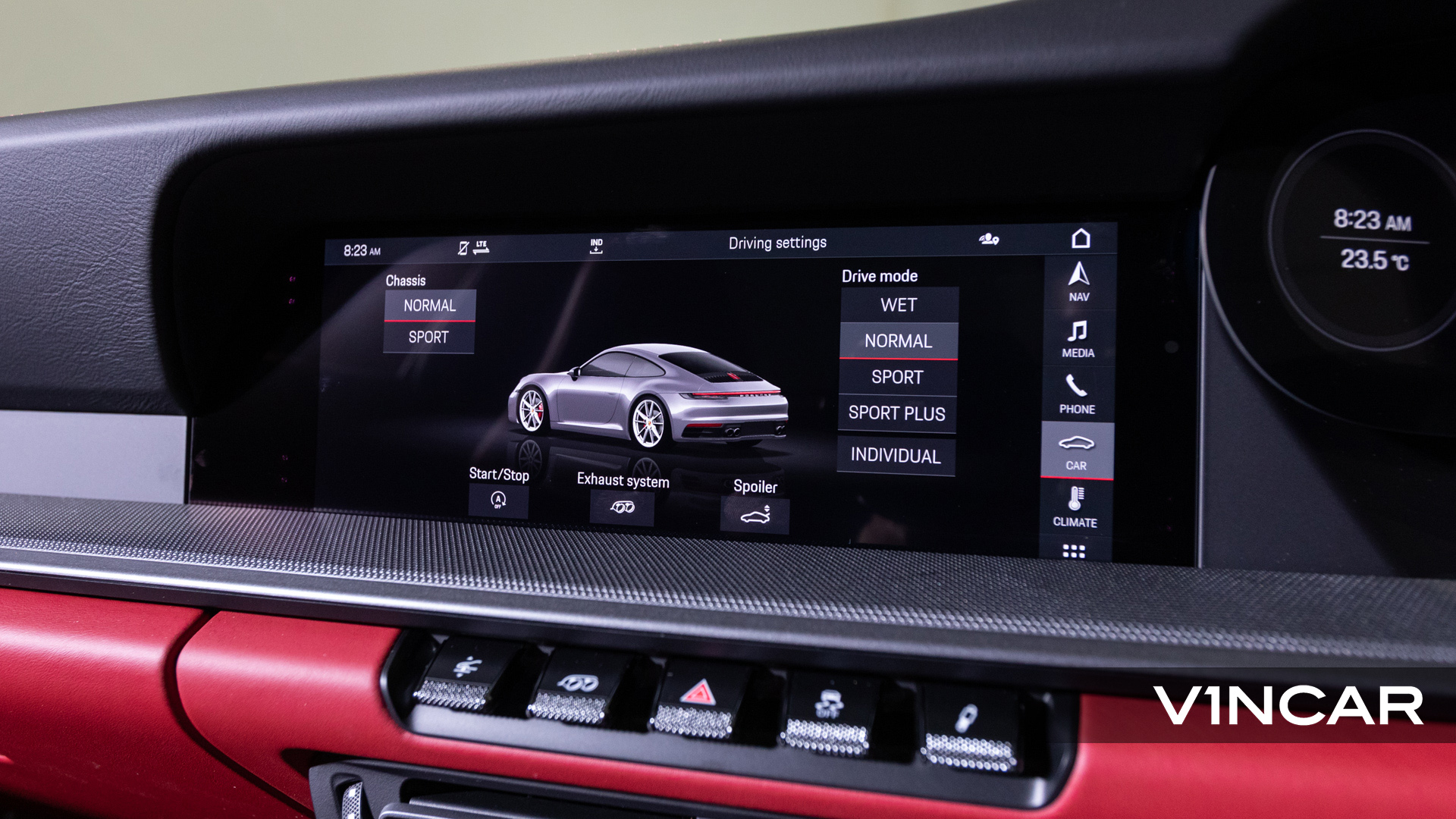 PORSCHE 911 CARRERA (CRAYON)-PCM Screen